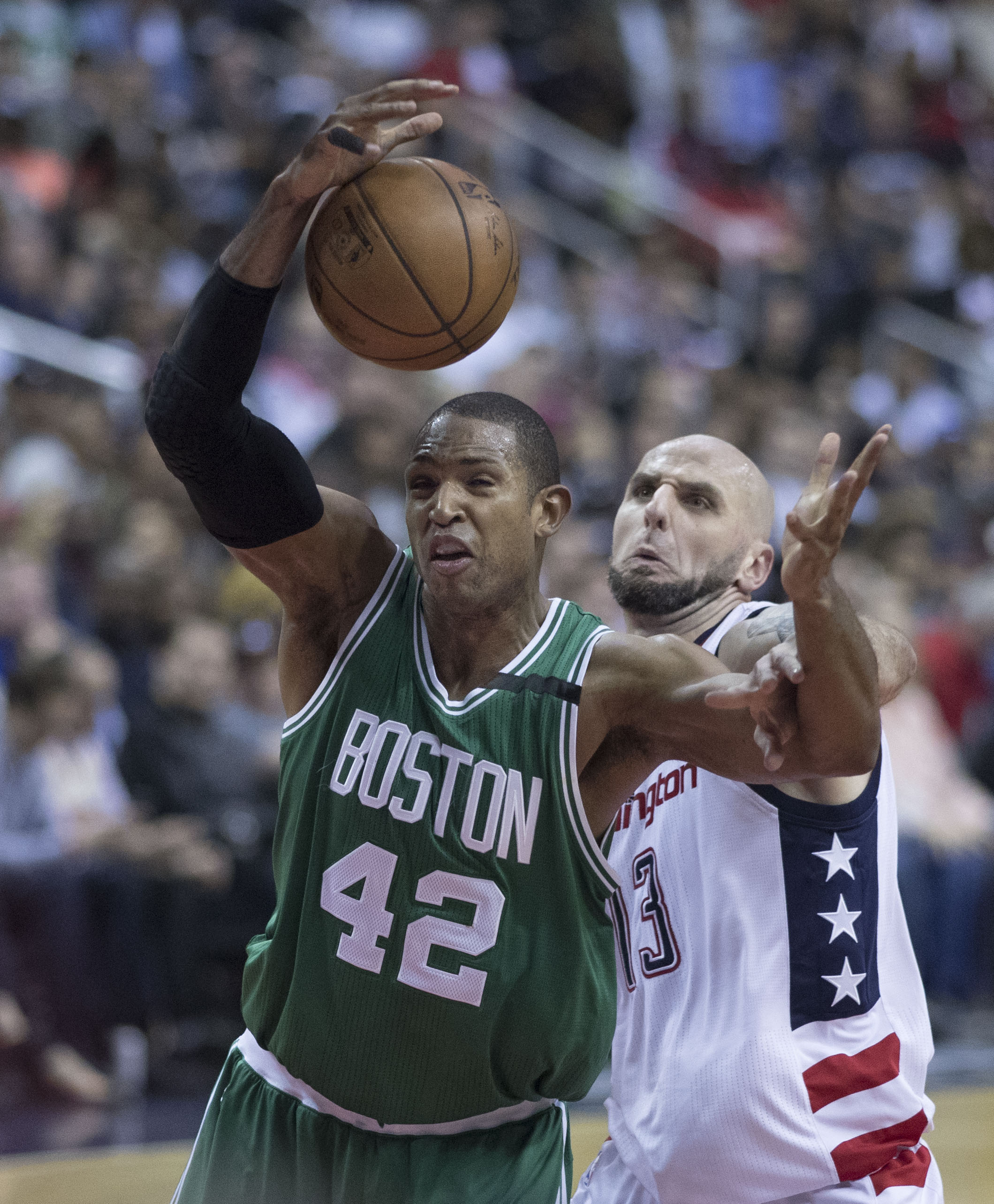 Al Horford, Marcin Gortat During Celtics, Wizards