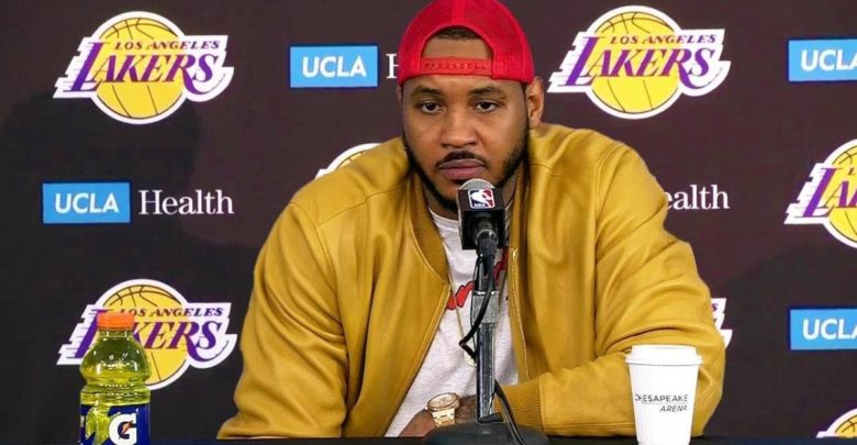 Carmelo Anthony Out Of Blazers-Lakers Due To Kobe's Death