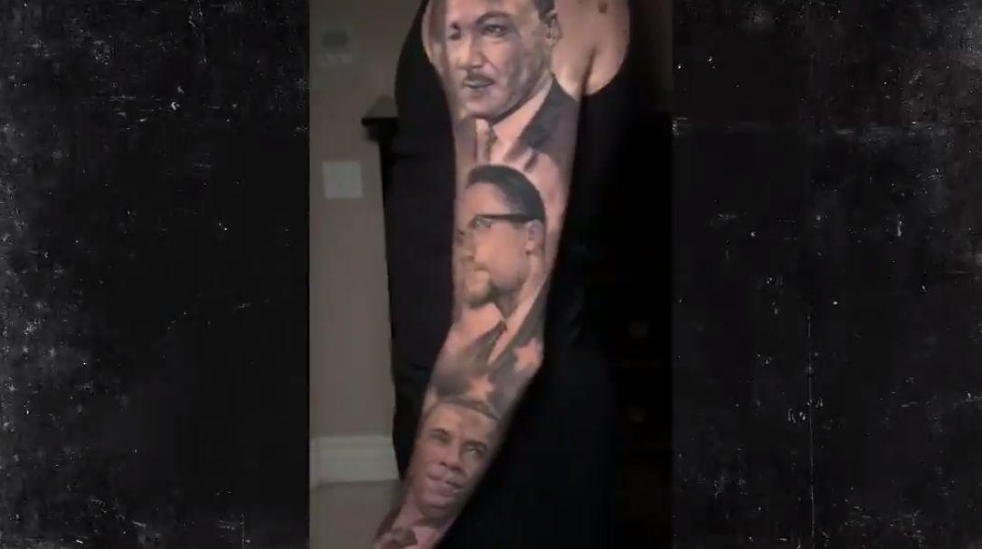 Lonzo Ball's New Tattoo Mixes Obama, MLK, Jackie Robinson And Malcom X