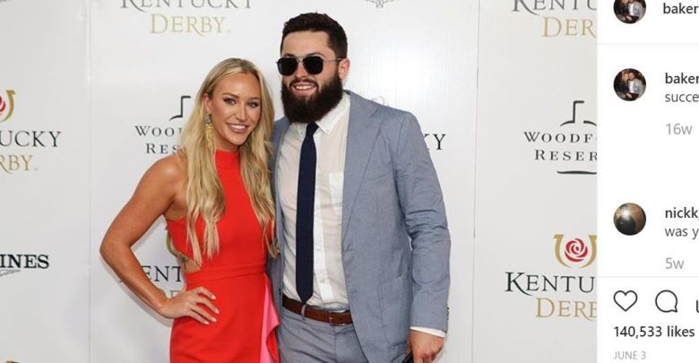Baker Mayfield's Wife Emily Mayfield Responds To His Critics
