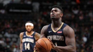 Zion Williamson Falls Asleep On Pelicans Bench Again