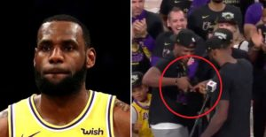 LeBron James Sparks Controversy With Gang Signs (Photos)
